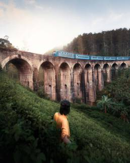 Train in Ella, Sri Lanka